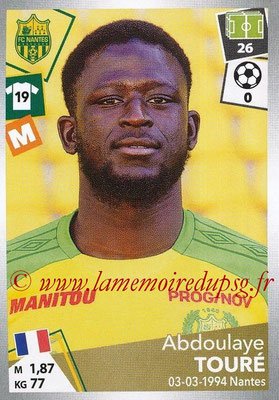 2017-18 - Panini Ligue 1 Stickers - N° 328 - Abdoulaye TOURE (Nantes)