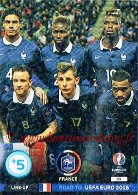 Panini Road to Euro 2016 Cards - N° 089 - Equipe France 2