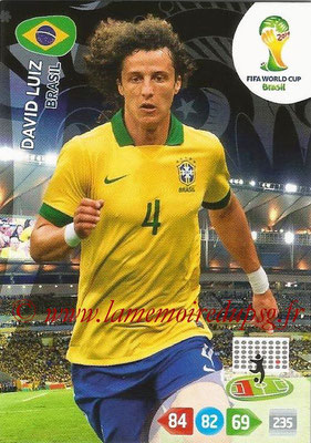 2014 - Panini FIFA World Cup Brazil Adrenalyn XL - N° 050 - David LUIZ (Brésil)