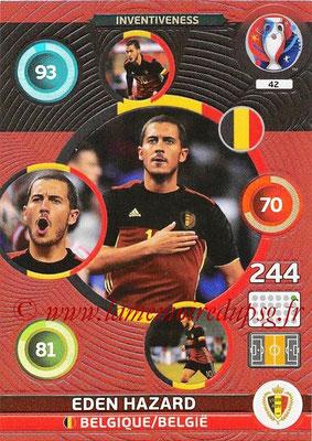 Panini Euro 2016 Cards - N° 042 - Eden HAZARD (Belgique) (Inventiveness)