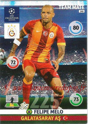2014-15 - Adrenalyn XL champions League N° 140 - Felipe MELO (Galatasaray AS)