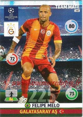 2014-15 - Adrenalyn XL champions League N° 140 - Felipe MELO (Galatasaray AS)