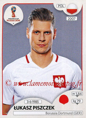 2018 - Panini FIFA World Cup Russia Stickers - N° 596 - Lukasz PISZCZEK (Pologne)