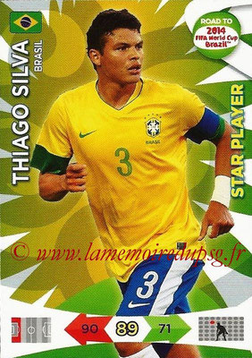 2014 - Panini Road to FIFA World Cup Brazil Adrenalyn XL - N° 016 - Tiago SILVA (Brésil) (Star Player)