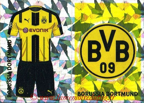 2016-17 - Topps UEFA Champions League Stickers - N° DOR 1-2 - Logo + Maillot Domicile (Borussia Dortmund)