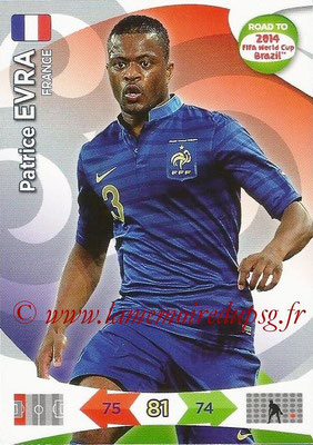 2014 - Panini Road to FIFA World Cup Brazil Adrenalyn XL - N° 090 - Patrice EVRA (France)