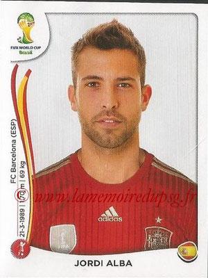 2014 - Panini FIFA World Cup Brazil Stickers - N° 115 - Jordi ALBA (Espagne)