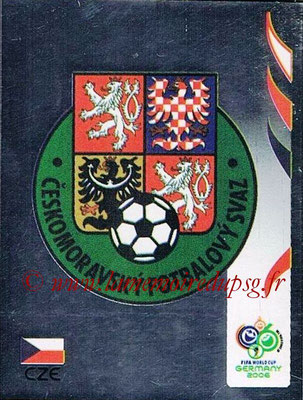 2006 - Panini FIFA World Cup Germany Stickers - N° 360 - Logo République Tchèque