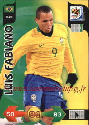 2010 - Panini FIFA World Cup South Africa Adrenalyn XL - N° 046 - Luis FABIANO (Bresil)