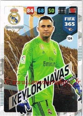 2017-18 - Panini FIFA 365 Cards - N° 124 - Keylor NAVAS (Real Madrid CF)