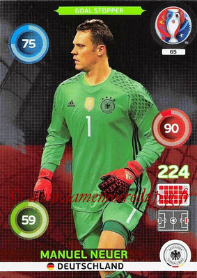 Panini Euro 2016 Cards - N° 065 - Manuel NEUER (Allemagne) (Goal Stopper)