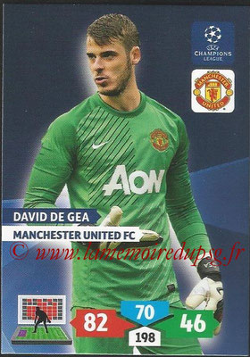 2013-14 - Adrenalyn XL champions League N° 172 - David DE GEA (Manchester United FC)