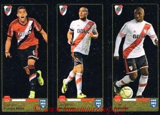 2015-16 - Panini FIFA 365 Stickers - N° 113-114-115 - Ramiro FUNES MORI + Jonathan MAIDANA + Eder BALANTA (River Plate)