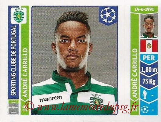 2014-15 - Panini Champions League N° 533 - Andre CARILLO (Sporting Club de Portugal)