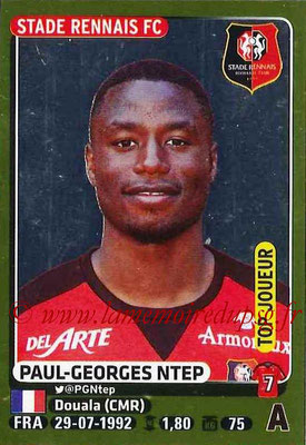2015-16 - Panini Ligue 1 Stickers - N° 391 - Paul-Georges NTEP (Stade Rennais FC) (Top joueur)
