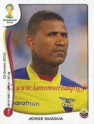 2014 - Panini FIFA World Cup Brazil Stickers - N° 360 - Jorge GUAGUA (Equateur)