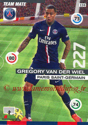 2015-16 - Football Cards N° 159 - Gregory VAN DER WIEL