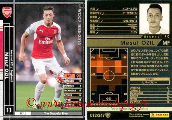 2015-16 - Panini WCCF - N° 012 - Mesut OZIL (Arsenal FC)