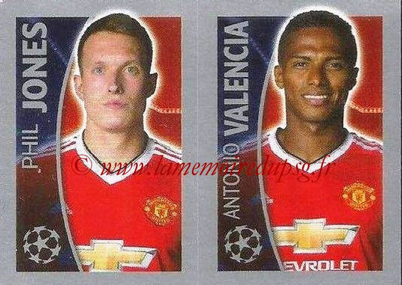 2015-16 - Topps UEFA Champions League Stickers - N° 117 - Phil JONES + Antonio VALENCIA (Manchester United FC)