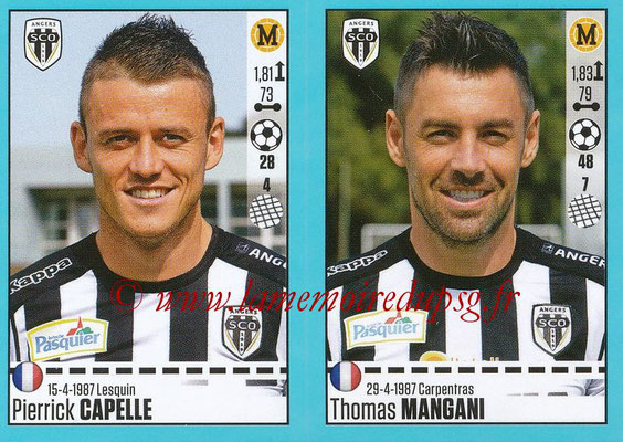 2016-17 - Panini Ligue 1 Stickers - N° 030 + 031 - Pierrick CAPELLE + Thomas MANGANI (Angers)