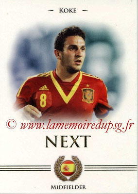 2014 - Futera World Football Unique - N° 094 - KOKE (Midfielder) (Next)