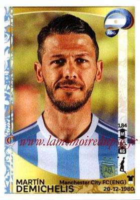 Panini Copa America Centenario USA 2016 Stickers - N° 307 - Martin DEMICHELIS (Argentine)