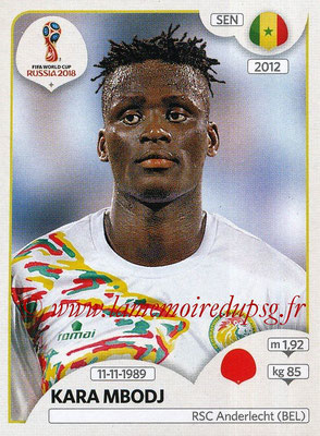 2018 - Panini FIFA World Cup Russia Stickers - N° 615 - Kara MBODJI (Senegal)