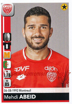 2018-19 - Panini Ligue 1 Stickers - N° 110 - Mehdi ABEID (Dijon)