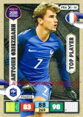 2018 - Panini Road to FIFA World Cup Russia Adrenalyn XL - N° FRA14 - Antoine GRIEZMANN (France) (Top Player)