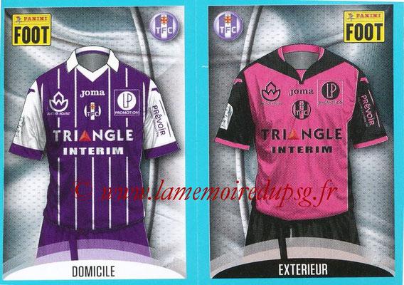 2016-17 - Panini Ligue 1 Stickers - N° 804 + 805 - Maillot Domicile + Extérieur (Toulouse)