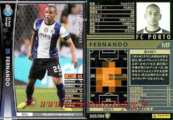 2012-13 - WCCF - N° 265 - FERNANDO (FC Porto)