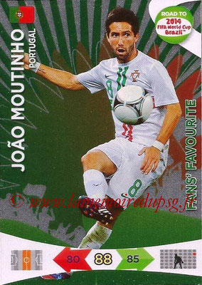 2014 - Panini Road to FIFA World Cup Brazil Adrenalyn XL - N° 203 - Joao MOUTINHO (Portugal) (Fan's Favourite)