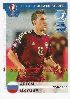 Panini Road to Euro 2016 Stickers - N° 272 - Artem DZYUBA (Russie)