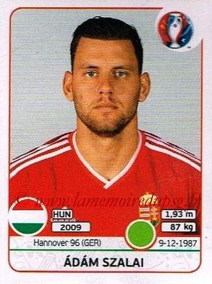 Panini Euro 2016 Stickers - N° 680 - Adam SZALAI (Hongrie)