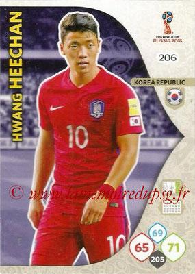 2018 - Panini FIFA World Cup Russia Adrenalyn XL - N° 206 - Hwang HEE-CHAN (Corée du Sud)