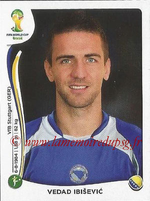 2014 - Panini FIFA World Cup Brazil Stickers - N° 448 - Vedad IBISEVIC (Bosnie Herzegovine)