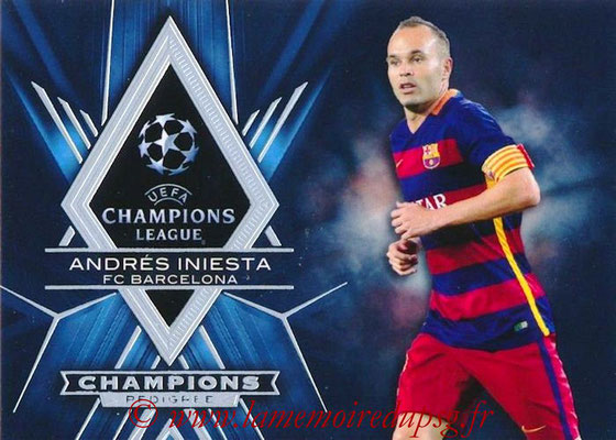 2015-16 - Topps UEFA Champions League Showcase Soccer - N° CP-AI - Andrés INIESTA (FC Barcelone) (Champions Pedigree)
