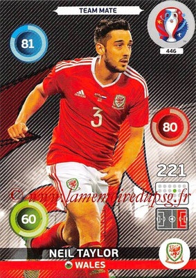 Panini Euro 2016 Cards - N° 446 - Neil TAYLOR (Pays de Galles)