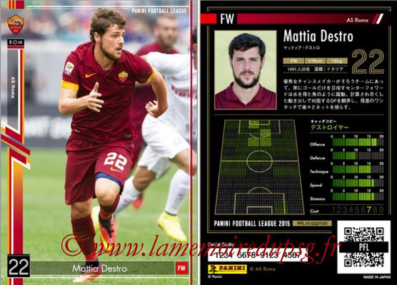 Panini Football League 2015 - PFL10 - N° 022 - Mattia DESTRO (AS Roma)