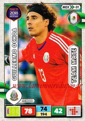2018 - Panini Road to FIFA World Cup Russia Adrenalyn XL - N° MEX01 - Guillermo OCHOA (Mexique)
