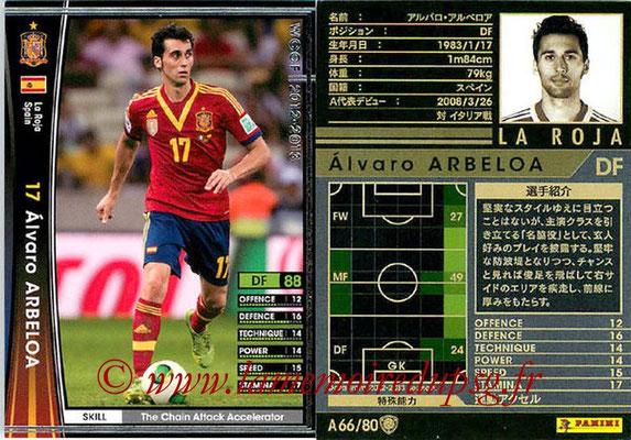 2012-13 - WCCF - N° A66 - Alvaro ARBEOLA (Espagne)