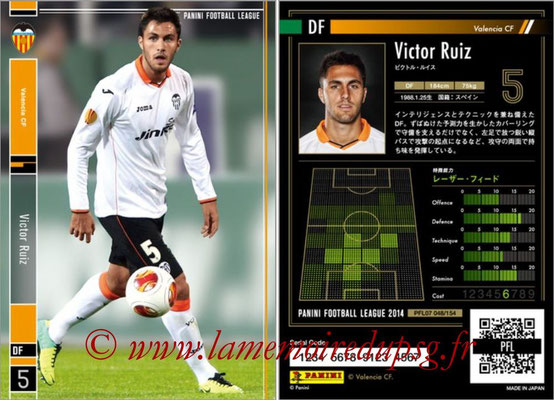 Panini Football League 2014 - PFL07 - N° 048 - Victor RUIZ (FC Valence)