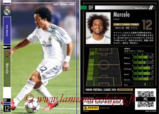 Panini Football League 2014 - PFL08 - N° 043 - MARCELO (Real Madrid)