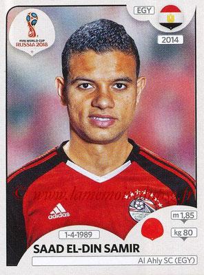2018 - Panini FIFA World Cup Russia Stickers - N° 082 - Saad EL-DIN SAMIR (Egypte)