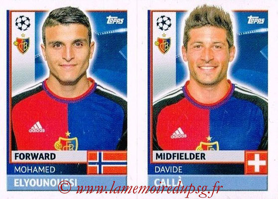 2016-17 - Topps UEFA Champions League Stickers - N° BAS 16-17 - Davide CALLA + Mohamed ELYOUNOUSSI (FC Basel 1893)