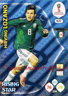 2018 - Panini FIFA World Cup Russia Adrenalyn XL - N° 427 - Hirving LOZANO (Mexique) (Rising Star)