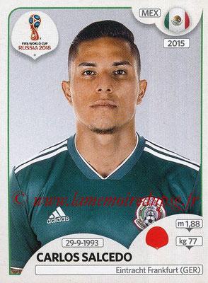 2018 - Panini FIFA World Cup Russia Stickers - N° 460 - Carlos SALCEDO (Mexique)