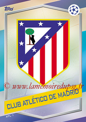 2016-17 - Topps UEFA Champions League Match Attax - N° ATL1 - Logo Club Atletico de Madrid