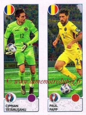 Panini Euro 2016 Stickers - N° 044 - Ciprian TATARUSANU + Paul PAPP (Roumanie)