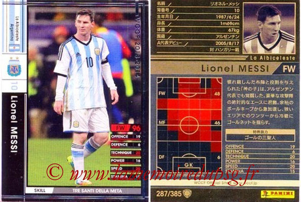2013-14 - WCCF - N° 287 - Lionel MESSI (Argentine)